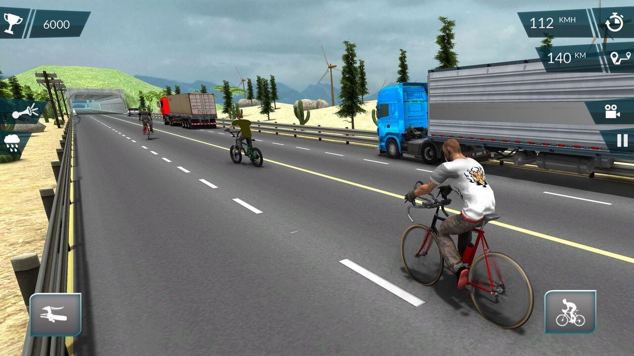 لعبة سباق الدراجات للايفون