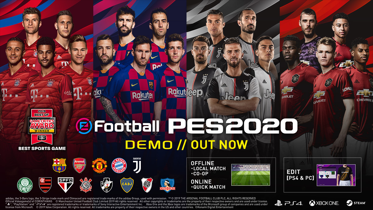 تحميلpes 2020 للكمبيوتر Pro Evolution Soccer 2020
