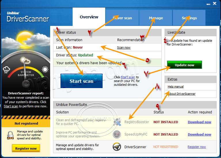 Uniblue Driver Scanner 10