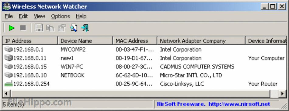 WirelessNetView 1.71