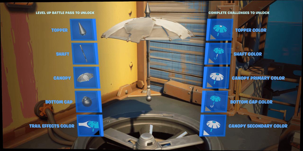 تحديات بناء مظلة Fortnite