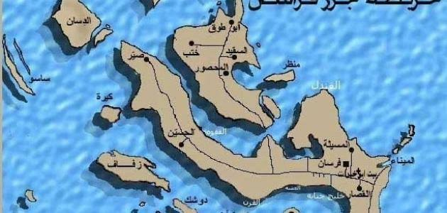 خريطة جزيرة فراسان