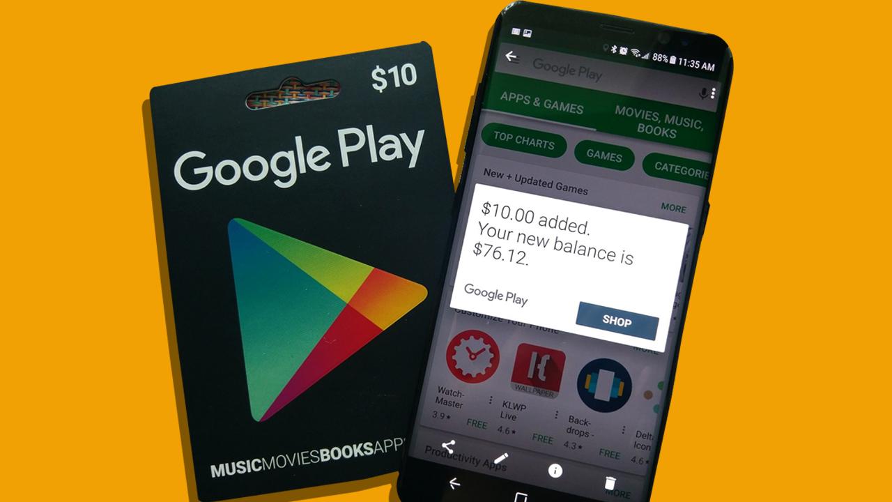 الحصول على بطاقات جوجل بلاي مجانا
