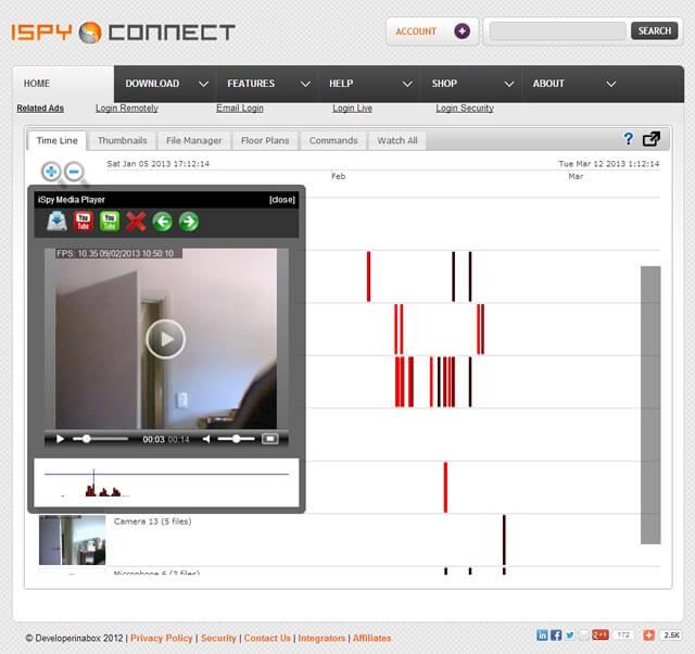 برنامج iSpy لتشغيل كاميرات المراقبة