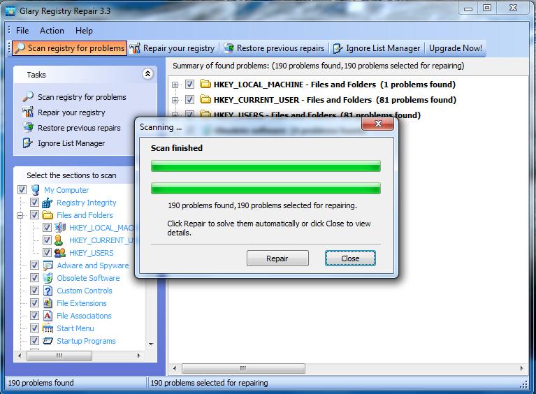 Registry Repair 5.0.1.822ط