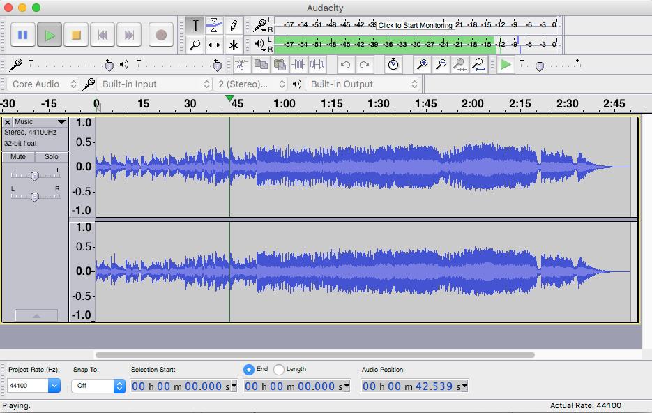 audacity برنامج للإنتاج الصوتي