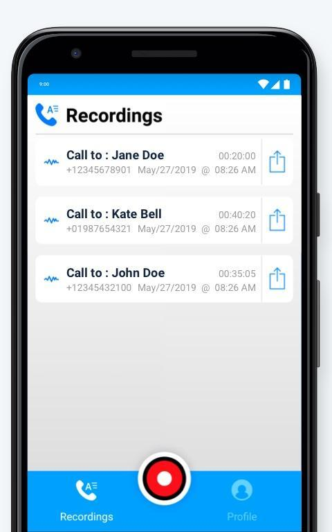 ‪Call Recording by NoNotes‬‏